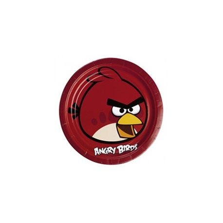 Angry Birds -  party tanier - 23 cm, 8 ks