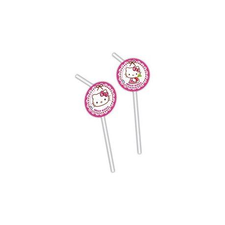 Hello Kitty - Party slamky so srdiečkami