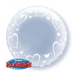 Srdiečkový Deco Bubble balón