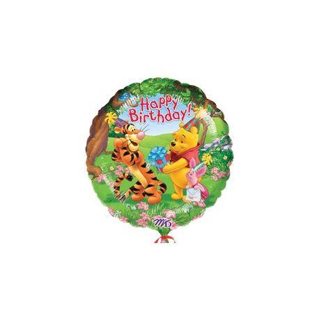 Balon Macko Pooh Happy Birthday