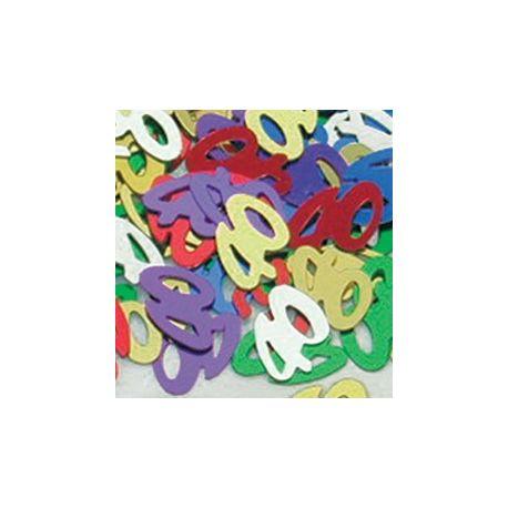 Konfety - Čísla 40 farebný mix - 14 gr
