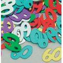 Konfety - Čísla 60 farebný mix - 14 gr