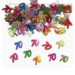 Narodeninové farebné party konfety s číslom 70 - 14 g