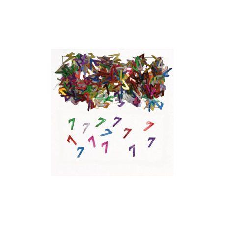 Narodeninové farebné party konfety s číslom 7 - 14 g