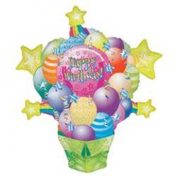 Balík balónov a hviezd Shape fóliový balón