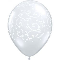 Qualatex Filigree a Hearts ballons
