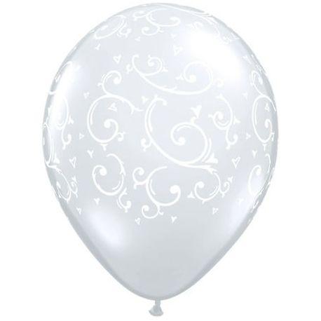 Qualatex Filigree a Hearts ballons
