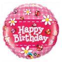 Balón Lienky a Sedmokrásky   Happy Birthday