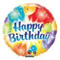 Balón Qualatex Happy birthday - farebný