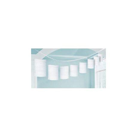 Závesná dekorácia lampiónová girlanda biela - 3,6 m