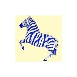 Balón Zebra modrá