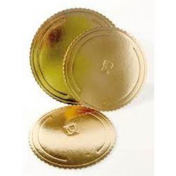 Lepenkový 3-vrstvový podnos zlatý 30cm