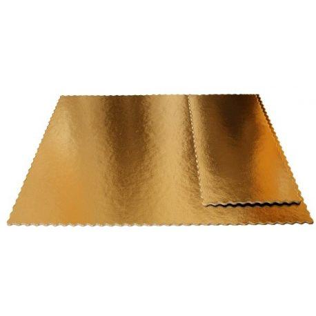 Obojstranný zlatočierny podnos 15x30cm