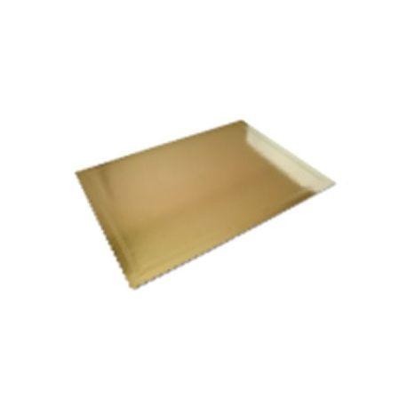 Obojstranný zlatočierny podnos 40x50cm