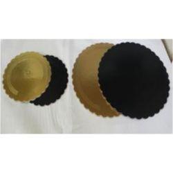 Obojstranný zlatočierny podnos 30cm