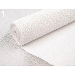 Krepový papier biely