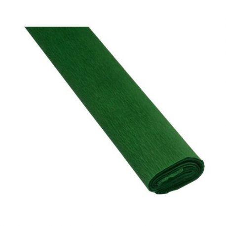 Krepový papier tm. zelený