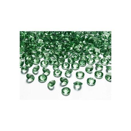 Diamantíky na stôl zelené 12 mm 100 ks