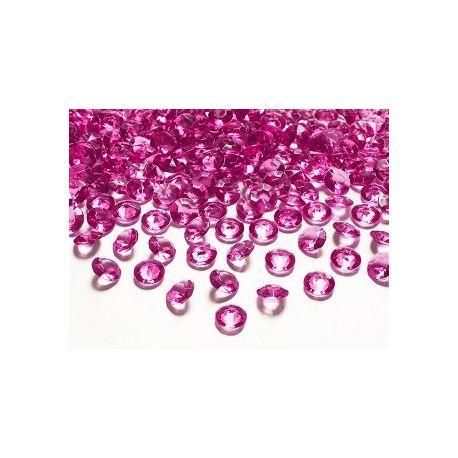 Diamantíky na stôl tmavoružové 12 mm 100 ks