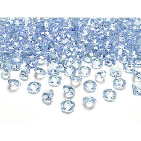 Diamantíky na stôl bledomodré 12 mm 100 ks