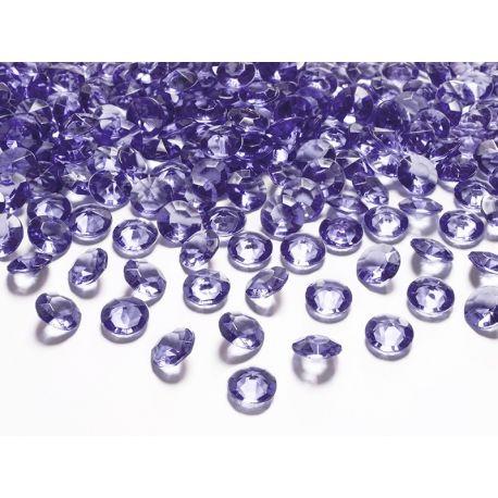 Diamantíky na stôl fialové