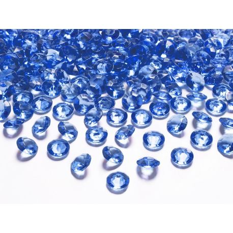 Diamantíky na stôl modré 12 mm 100 ks