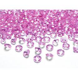 Diamantíky na stôl ružové 12 mm 100 ks