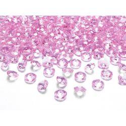 Diamantíky na stôl bledoružové 12 mm 100 ks