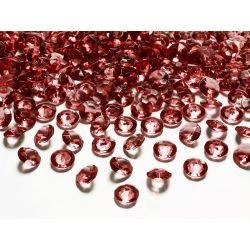 Diamantíky na stôl tmavočervené 12 mm 100 ks