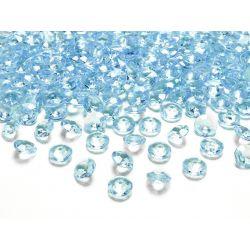 Diamantíky na stôl tyrkysové 12 mm 100 ks