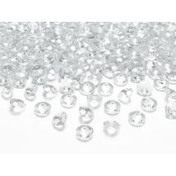 Diamantíky na stôl číre 12 mm 100 ks