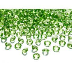 Diamantíky na stôl bledozelené 12 mm 100 ks