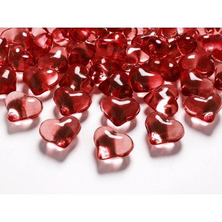 Kryštálové srdiečka červené 21 mm