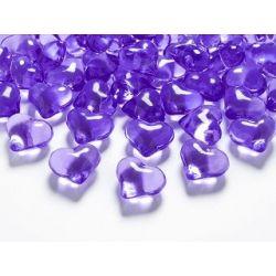 Kryštálové srdiečka fialové 21 mm