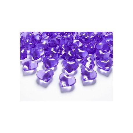 Kryštálové srdiečka fialové