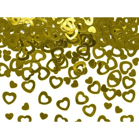 Konfety srdiečka zlaté