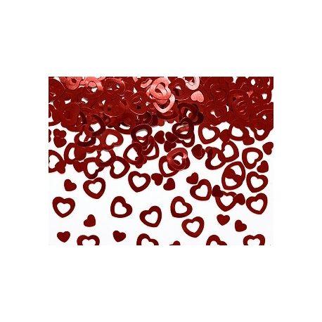 Konfety srdiečka červené