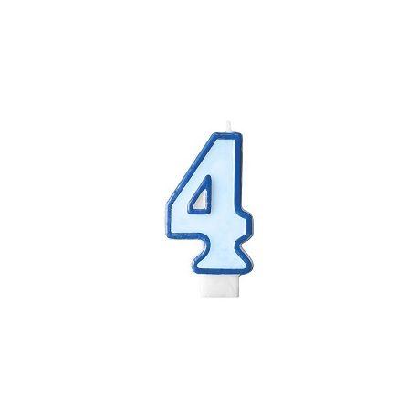 Číslová sviečka č. 4
