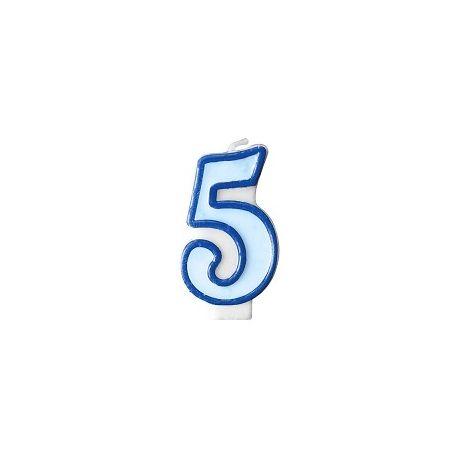 Číslová sviečka č. 5