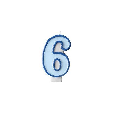 Číslové sviečka č. 6