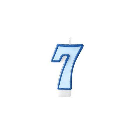 Číslová sviečka č. 7