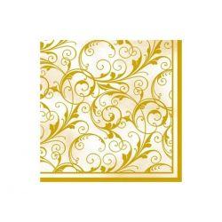 Servítky krémovo-zlaté