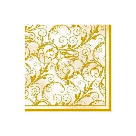 Servítky krémovo-zlaté 33x33 cm