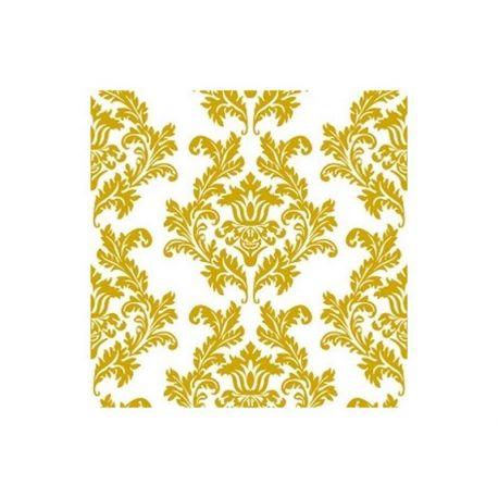 Servítky Damask bielo-zlaté