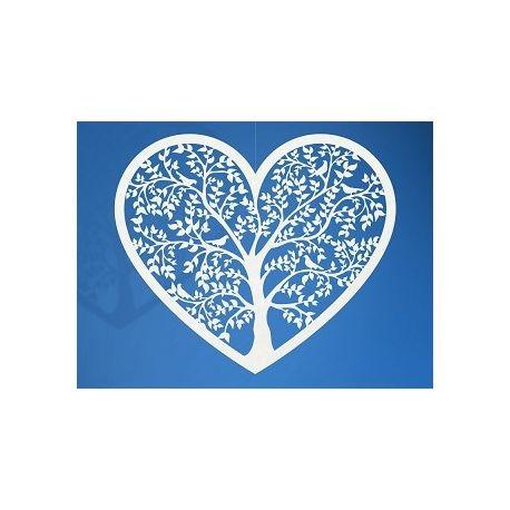 Papierová dekorácia srdce