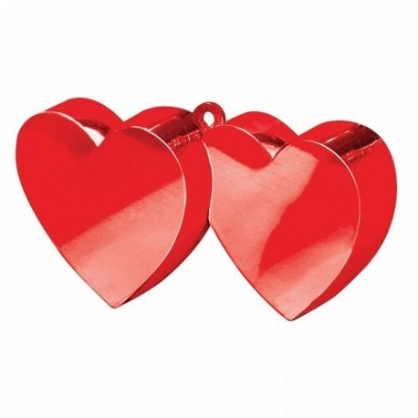 Ťažítko dve srdcia červené
