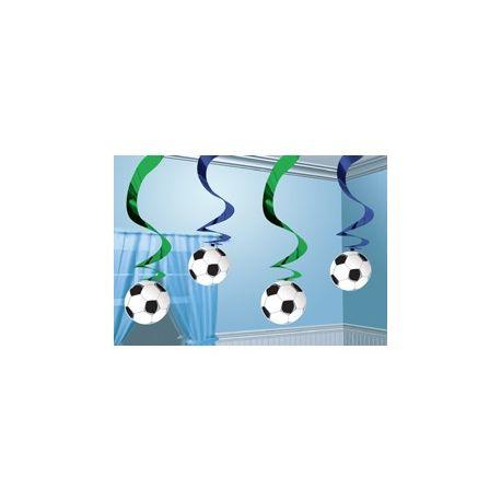 Závesná špirála Futbal 5ks