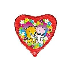 Balón Mačky v kvetoch