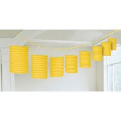 Závesná dekorácia lampiónová žltá 3,65m