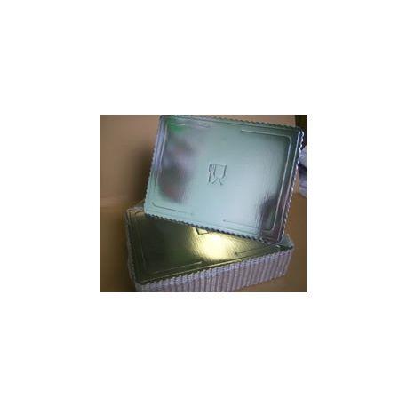 Lepenkový 3-vrstvový podnos strieborný 30x40cm